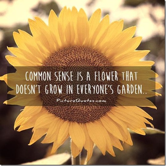 In The Garden of the Mind...You Will Seldom Find...Common Sense and Wisdom...1